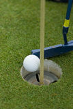 Golf putting green Royalty Free Stock Photos