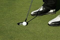 Golf putting stroke Stock Photo