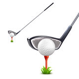 Golf Realistic Set Royalty Free Stock Photo