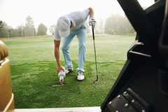 Golf repair divot Stock Images