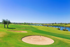 Golf resort with the scenery of the sea. Stock Photography