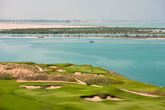 Golf resort with the scenery of the sea Stock Photography
