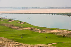 Golf resort with the scenery of the sea Stock Images