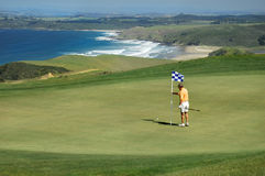 Golf - retirez la broche photographie stock