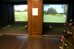 Golf room in a hotel Royalty Free Stock Photography