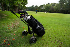 Golf Sack on trolley Royalty Free Stock Image