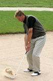 A golf sand-shot Royalty Free Stock Photos
