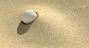 Golf Sand Trap Royalty Free Stock Photography