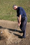 Golf Sand Trap Stock Image