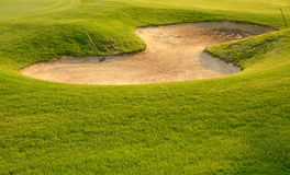 Golf Sand Trap Royalty Free Stock Photo