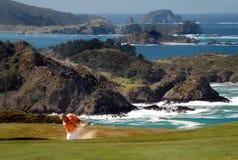 Golf - Sandfang Lizenzfreie Stockfotos