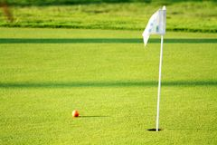 Golf scene. With the necessary accessories for your practice Royalty Free Stock Photo