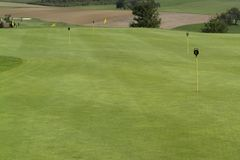 Golf scenery at summer time Stock Image