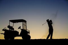 Golf-Schattenbild lizenzfreie stockbilder