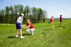 Golf school Stock Photo