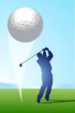 Golf-Schuß lizenzfreie abbildung