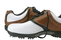 Golf-Schuhe lizenzfreies stockbild