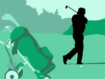 Golf-Schwingen lizenzfreie abbildung