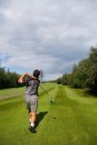 Golf-Schwingen Stockfoto