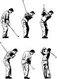 Golf-Schwingen-Abbildungen Stockfotografie