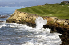 Golf By The Sea 2. Captured along the beautiful Northern California Coast stock photos