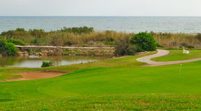 Golf and sea royalty free stock photography