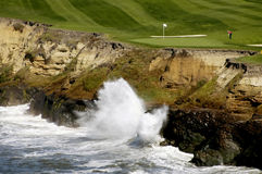Golf By The Sea 3. Captured along the beautiful Northern California Coast stock photo