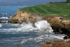 Golf By The Sea 5. Captured along the beautiful Northern California Coast royalty free stock images