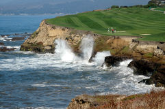Golf By The Sea 6. Captured along the beautiful Northern California Coast stock images