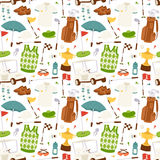 Golf seamless pattern vector. Stock Photo