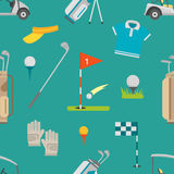 Golf seamless pattern vector Royalty Free Stock Image