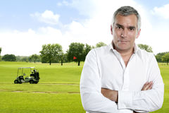 Golf senior golfer man portrait Stock Photo
