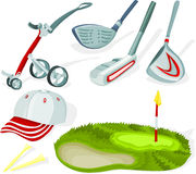 Golf set 02 Stock Image