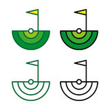 Golf 4. A set of golf icons Royalty Free Stock Photo
