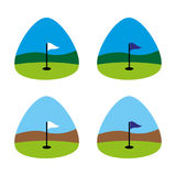 Golf5. A set of golf icons Stock Photography