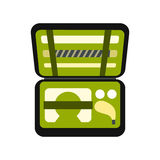 Golf set in suitcase icon Royalty Free Stock Photo
