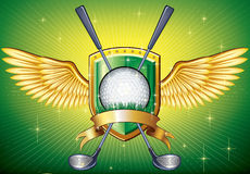 Golf Shield Royalty Free Stock Image