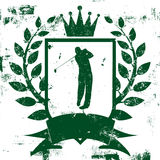 Golf Shield Insignia Stock Photo