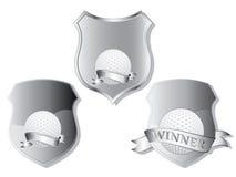 Golf shields Royalty Free Stock Photos