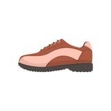 Golf shoe, golfer sport equipment cartoon vector Illustration Stock Photos
