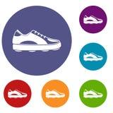 Golf shoe icons set Royalty Free Stock Image
