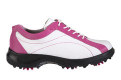 golf shoes kvinnor royaltyfri foto