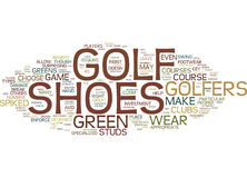 Golf Shoes Pros And Cons Word Cloud Concept Stock Photo
