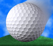 Golf shoot. Closeup of a golf ball shoot Royalty Free Stock Photography