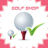 Golf Shop Icon Stock Photography