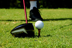 Golf shot Royalty Free Stock Images