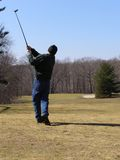 Golf Shot. Late Winter Golf Royalty Free Stock Photo