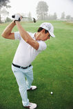 Golf shot man stock photography