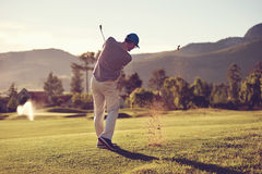 Golf shot man Royalty Free Stock Photos