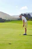 Golf shot man Royalty Free Stock Photo